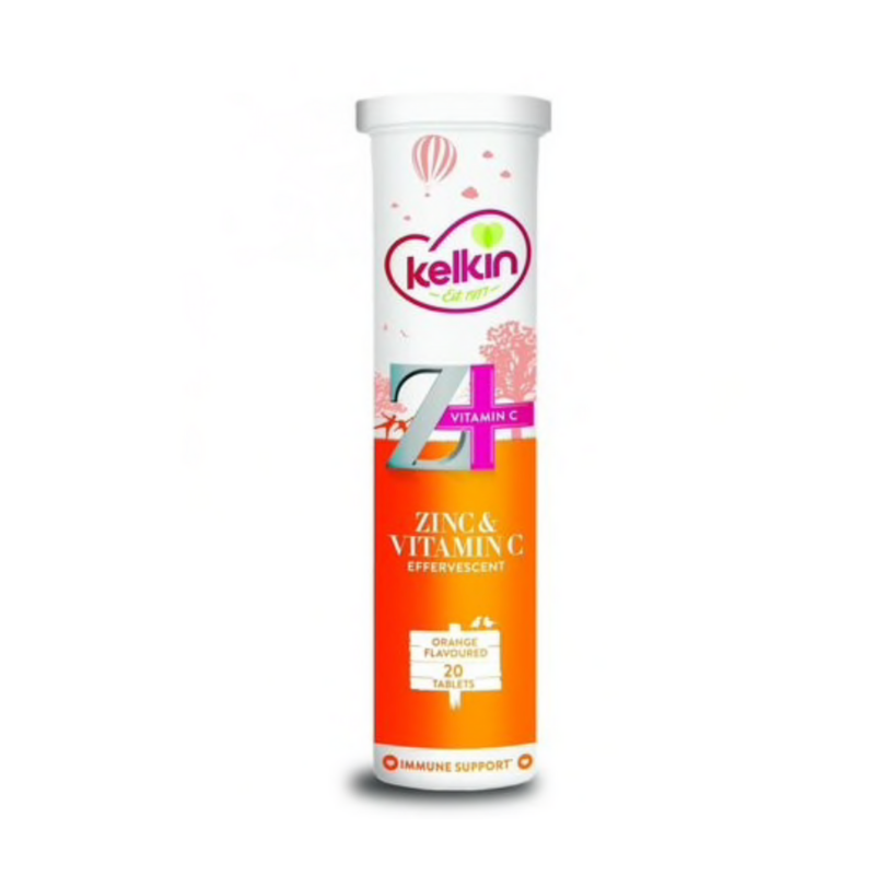 Kelkin Zinc And Vitmain C Effervescent Tablets 20's