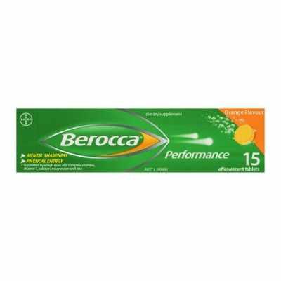 Berocca Orange Effervescent Vitamin Energy Tablets 15S