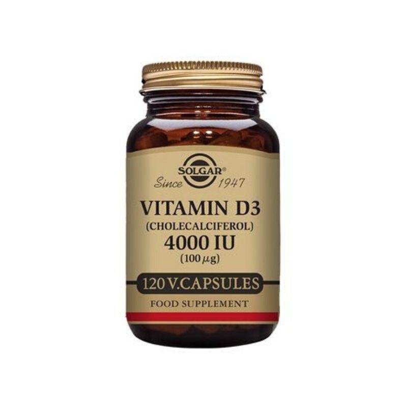 Solgar Vitamin D3 4000 IU (100 µg) Vegetable Capsules 120s