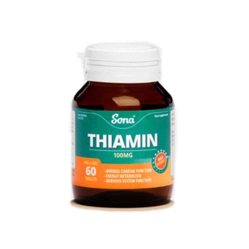 Sona Thiamine Vit B1 100Mg 60 Tablets