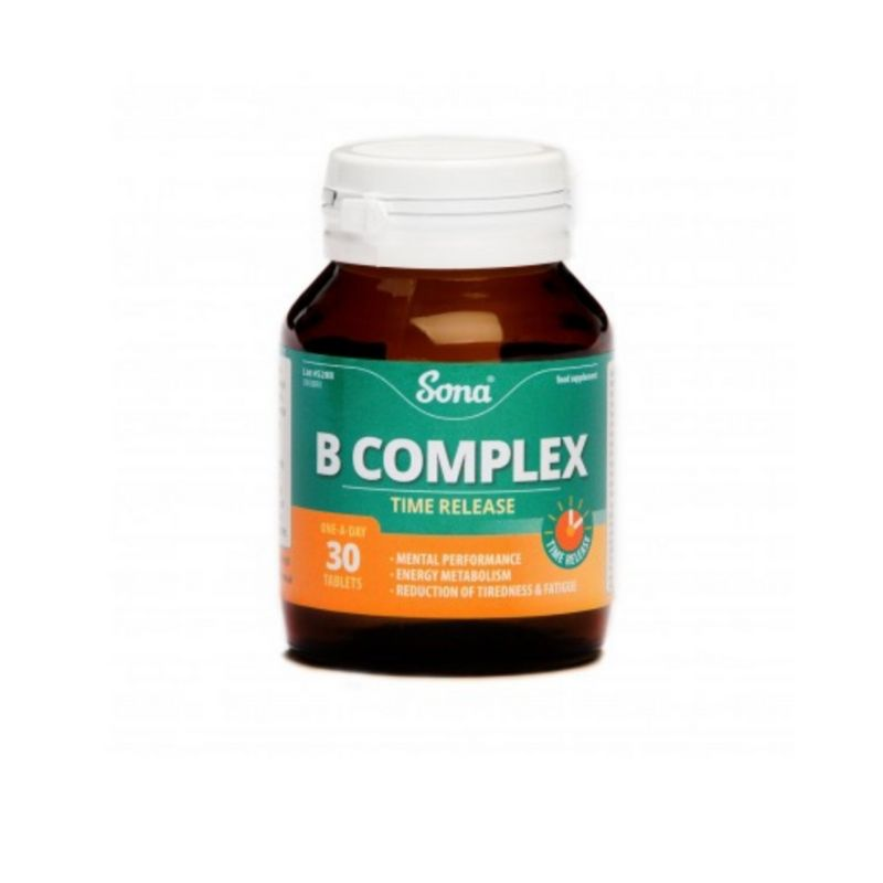 Sona B Complex Time Release Tablets 30s