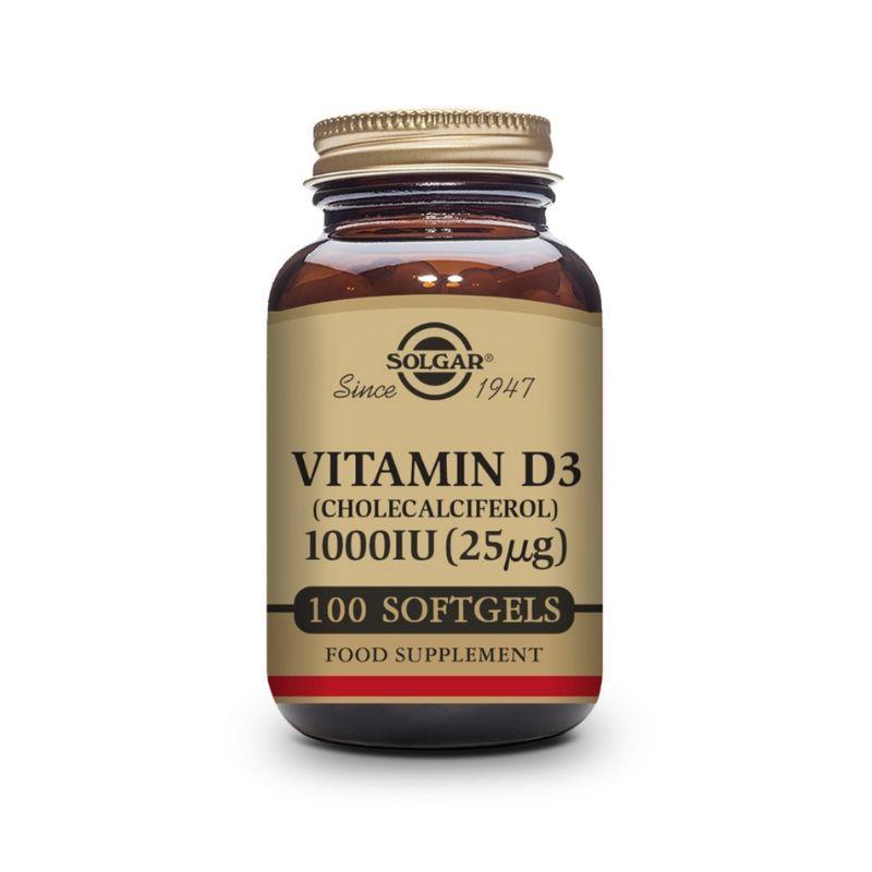 Solgar Vitamin D3 1000 IU Softgels 100s