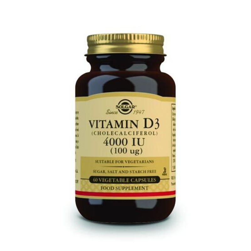 Solgar Vitamin D3 Cholecalciferol 4000 IU 100 Ug V 60s