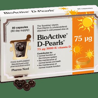 BioActive Vitamin D Pearls 75UG 80's