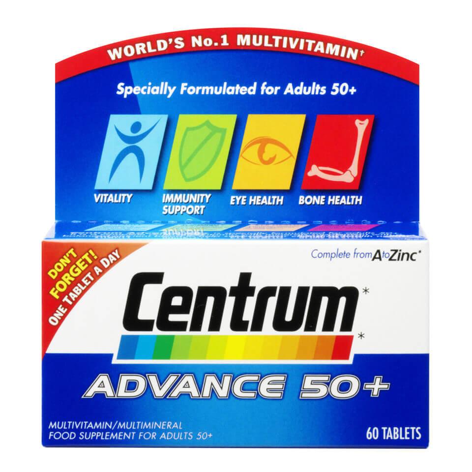 Centrum Advance 50 Plus Multivitamin Tablets – (60 Tablets)