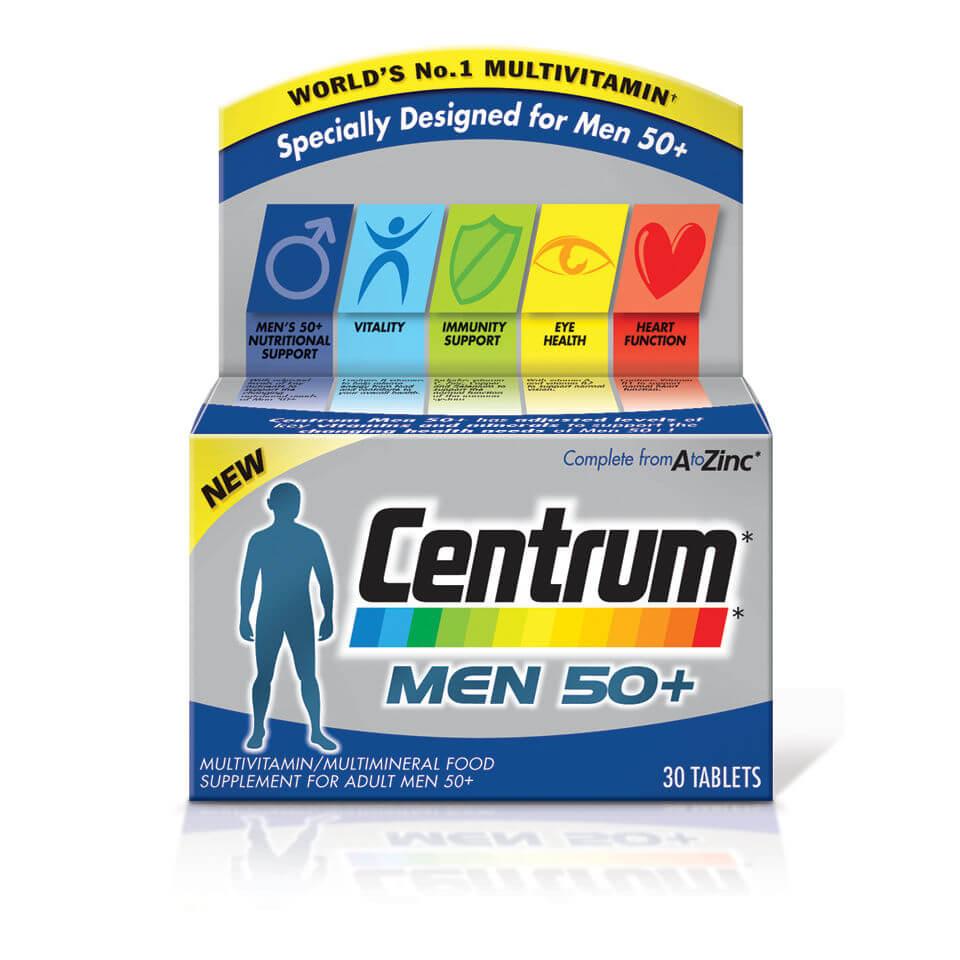 Centrum Men 50 Plus Multivitamin Tablets 30s