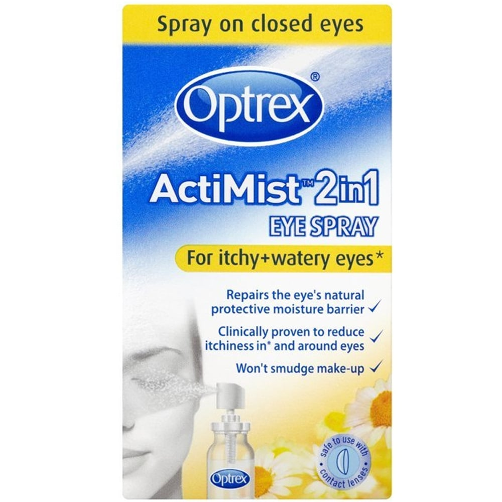 Optrex 2-in-1 ActiMist Itchy And Watery Eye Spray, 10 Ml