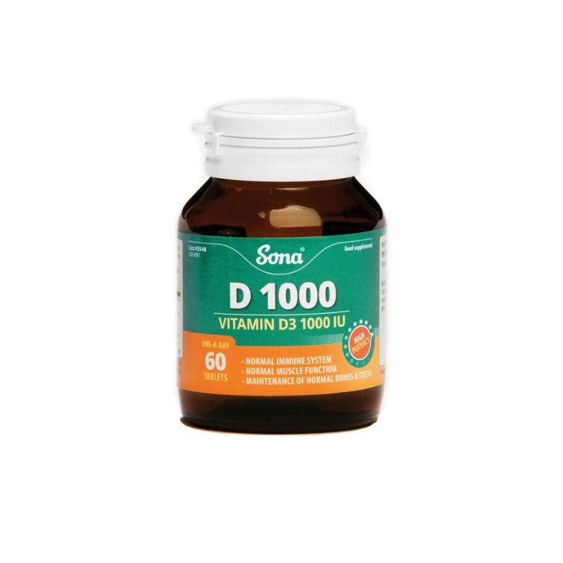 Sona D1000 Vitamin D3 60s
