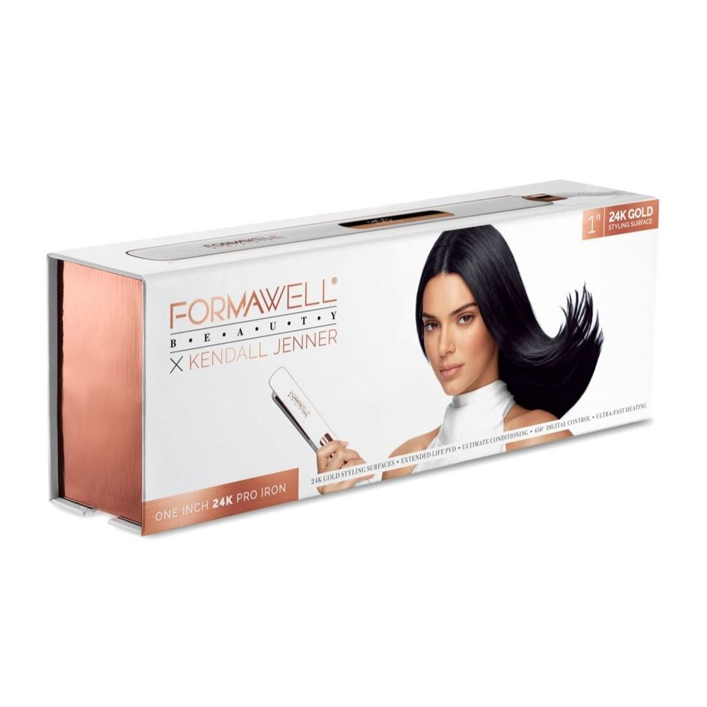 Kendall Jenner X Formawell Beauty – One Inch 24K Gold Hair Straightener Flat Iron