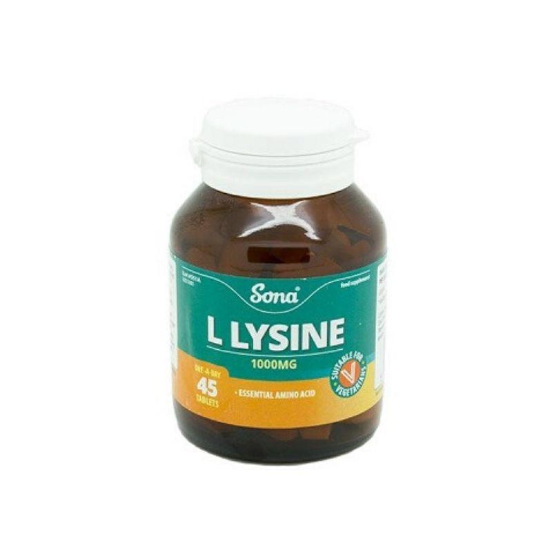 Sona L Lysine 1000mg – 45 Tabs