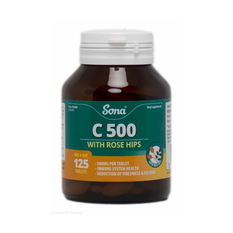 Sona C500 With Rose Hips 125 Tablets