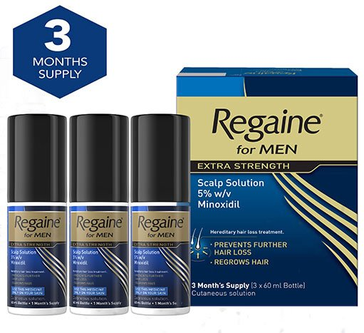 Regaine Extra Strength 5% W/v Cutaneous Solution 3Pk