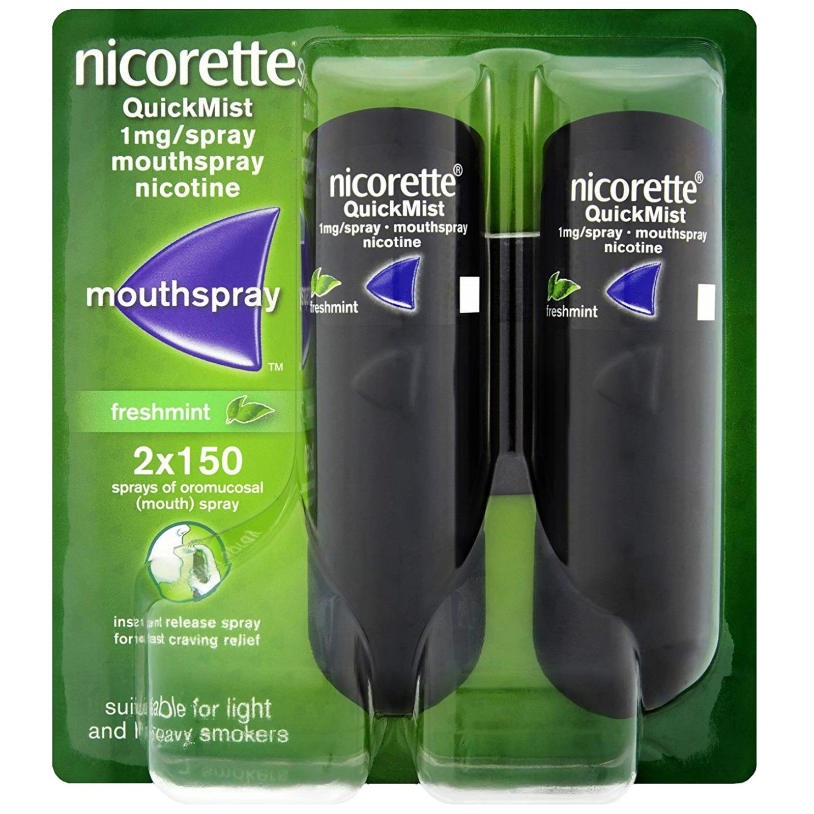 Nicorette Quickmist Double Fresh Mint  2 X 1mg
