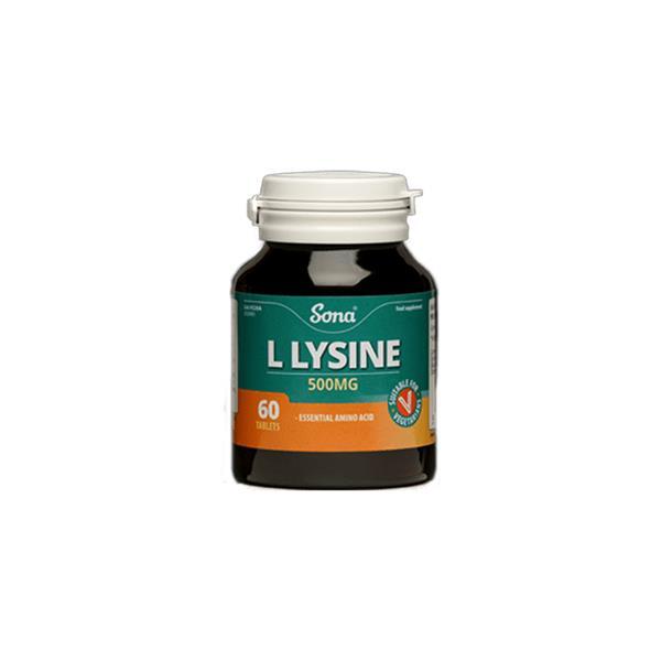 Sona L Lysine 500mg – 60 Tabs