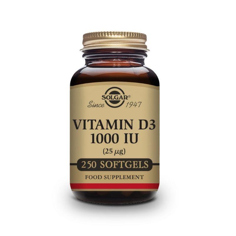 Solgar Vitamin D3 1000 IU Softgels 250s