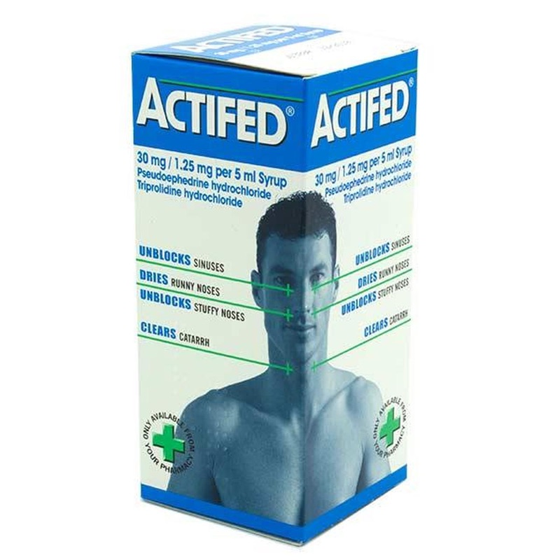 ACTIFED 30mg/1.25mg Per 5ml Syrup 100ml