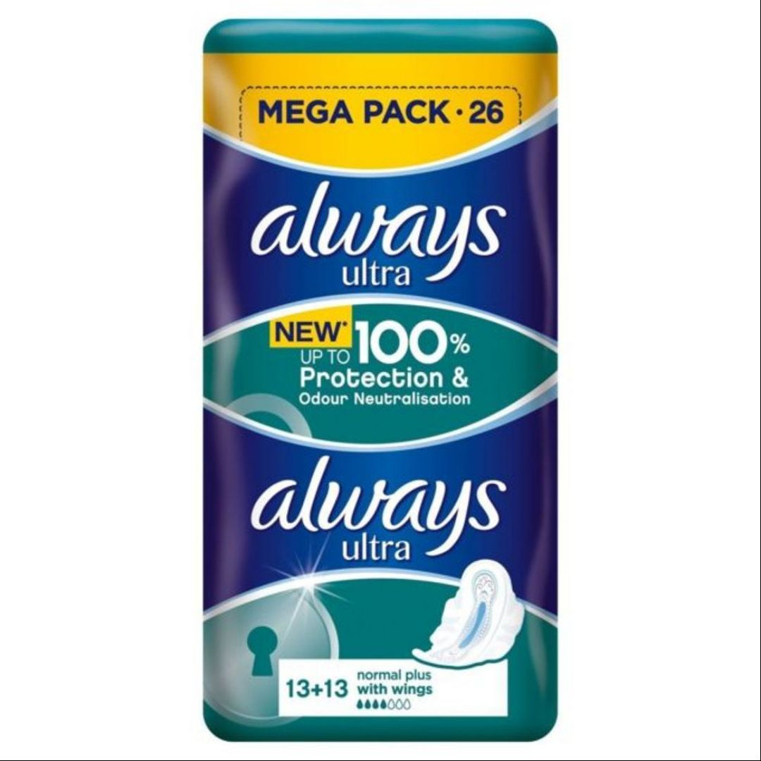 Always Ultra Normal Plus With Wings Duo Pack 26