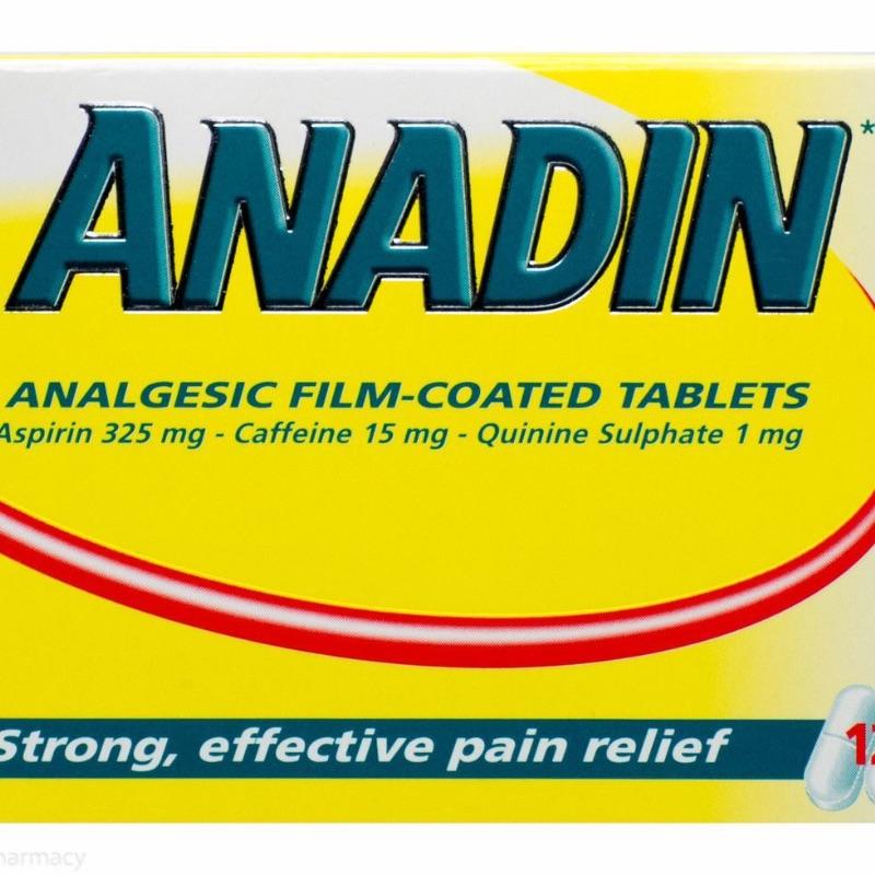 Anadin Analgesic Film-coated Tablets Aspirin 325mg Caffeine 15mg