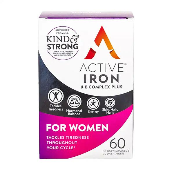 Active Iron & B Complex For Women 60 Capsules