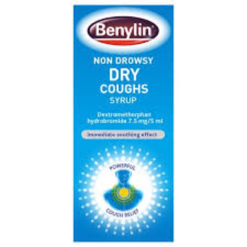 Benylin Non-Drowsy Dry Coughs, Syrup Dextromethorphan Hydrobromide 7.5mg/5m 125ml