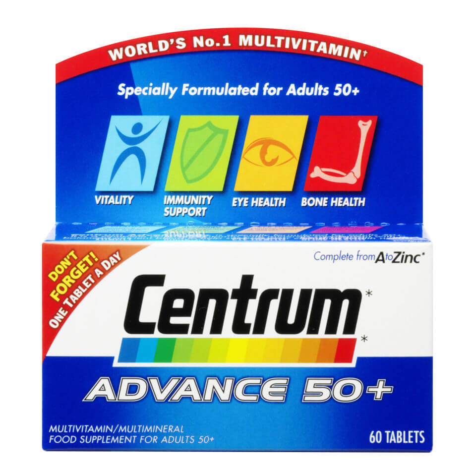 Centrum Advance 50 Plus Multivitamin Tablets – (60 Tablets)