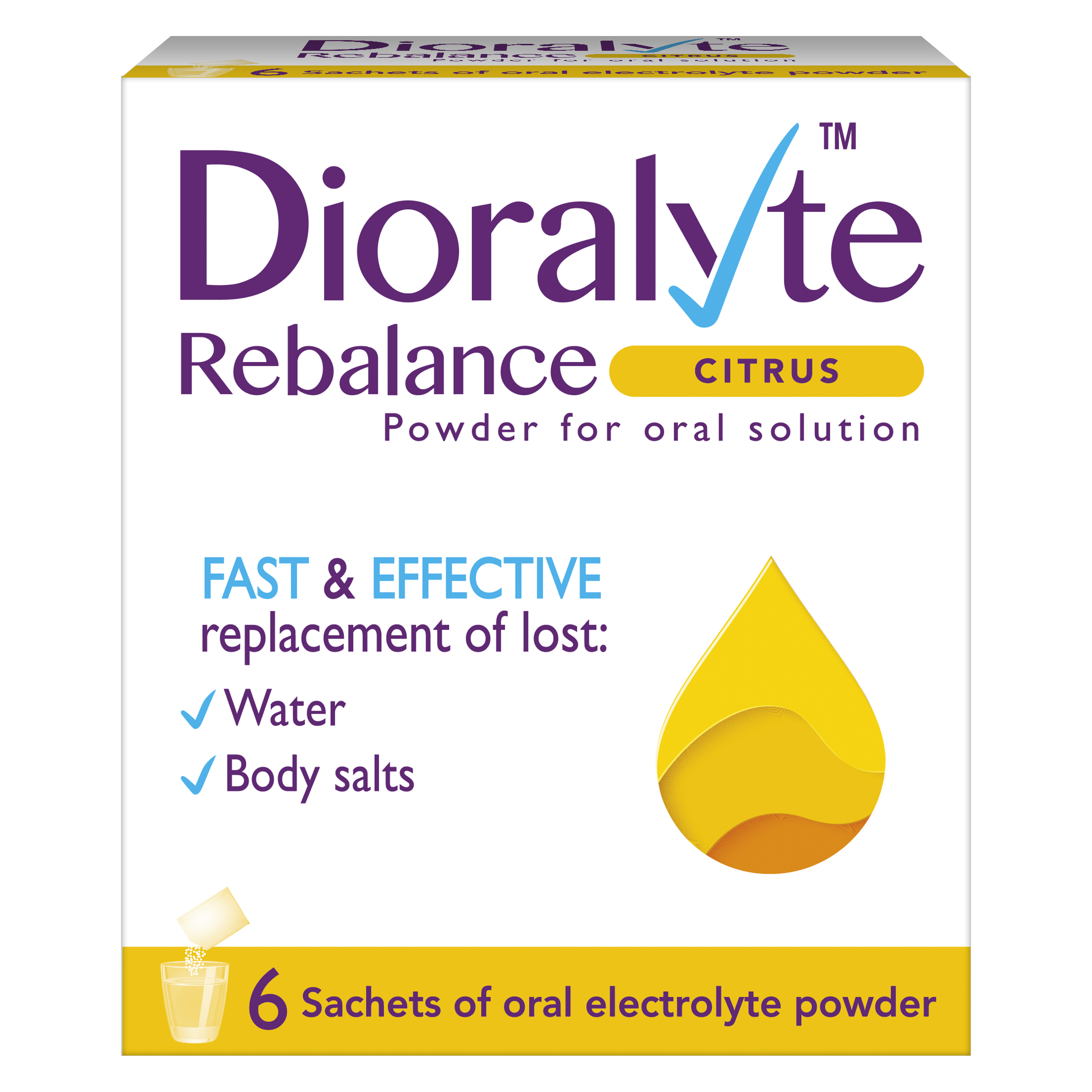 Dioralyte Citrus Powder For Oral Solution