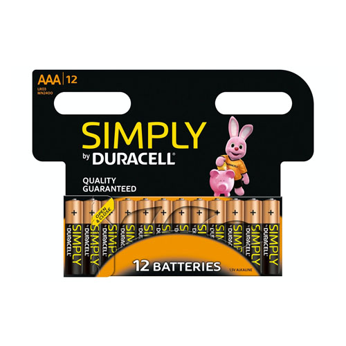 Duracell Simply Batteries 12 Pack AAA