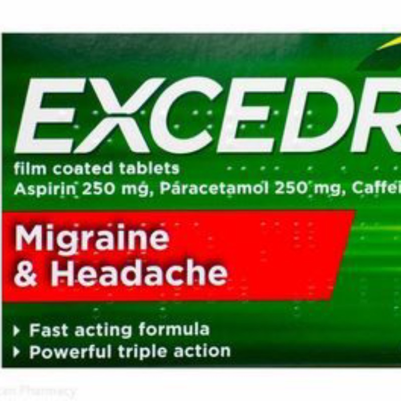 Excedrin 250 Mg/ 250 Mg/ 65 Mg Film Coated Tablets 20Pk