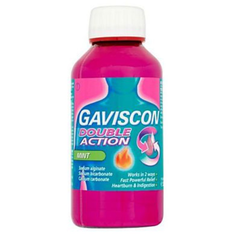 Gaviscon Extra Oral Suspension Sodium Alginate 500 Mg Sodium Bicarbonate 213 Mg Calcium Carbonate 325 Mg