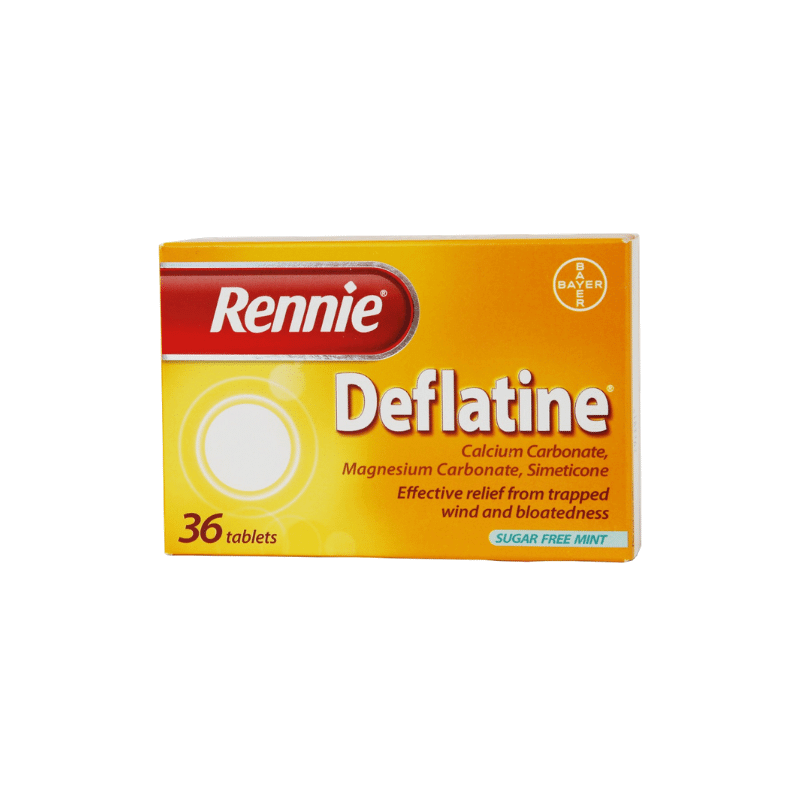 Rennie Deflatine Chewable Tablets Calcium Carbonate 680mg Magnesium Carbonate 80mg Simeticone 25mg 18Pk