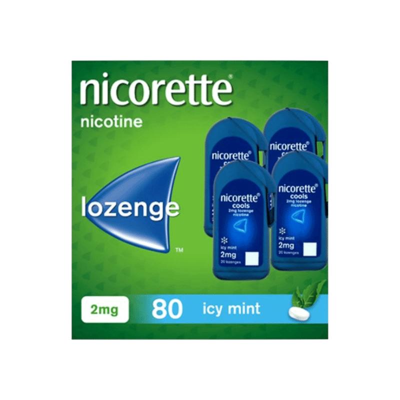 Nicorette Cools 4mg Lozenge 80Pk