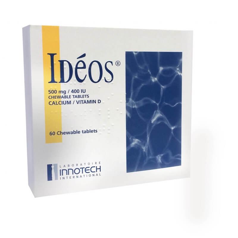 IDEOS 500mg/400 IU Chewable Tablets 60Pk