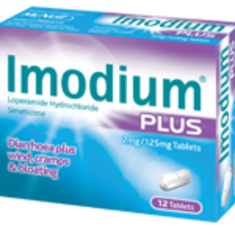 Imodium Plus 2 Mg/125 Mg Tablets 12Pk