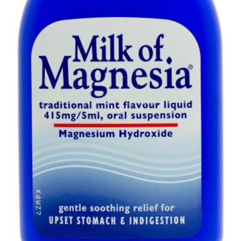 Milk Of Magnesia Traditional Mint Flavoured Liquid, 415 Mg/5 Ml, Oral Suspension 200ml