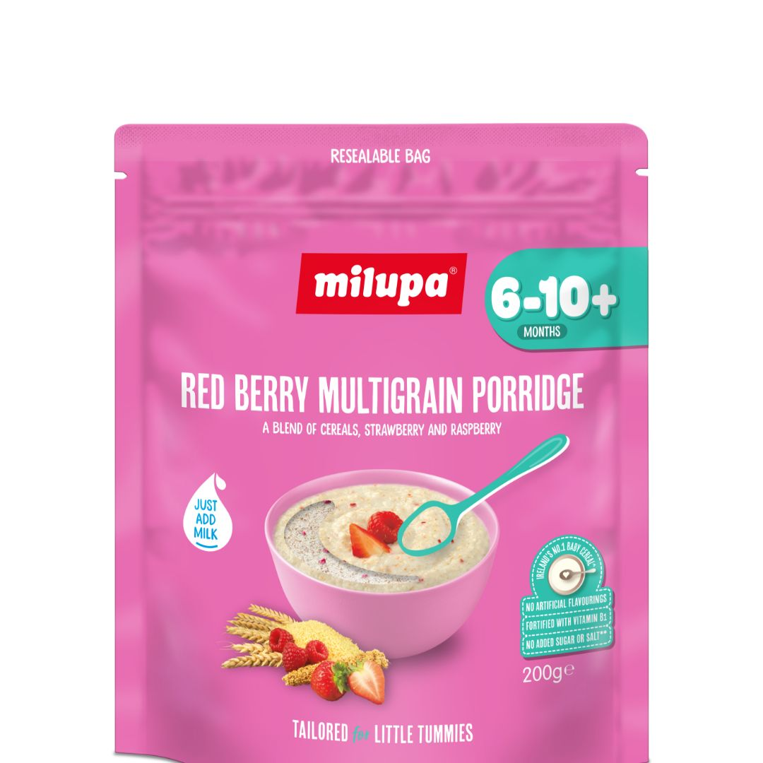 Milupa Stage 2 Red Berry Multigrain Porridge 200g
