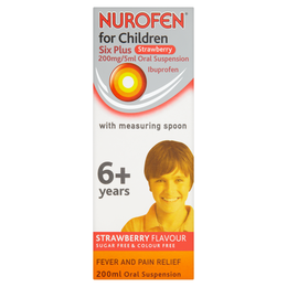 Nurofen For Children Six Plus Strawberry 200 Mg/5 Ml Oral Suspension 200ml