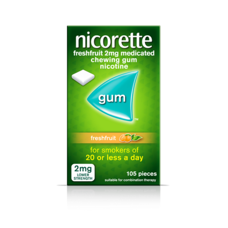 Nicorette Freshfruit 2mg Medicated Chewing Gum 105Pk