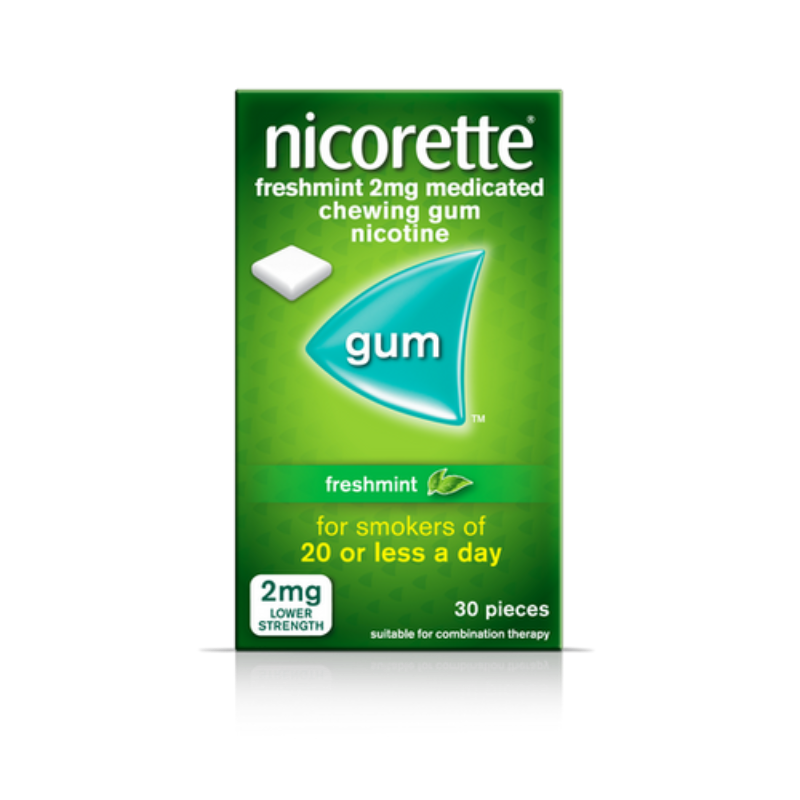 Nicorette Freshmint 2mg Medicated Chewing Gum