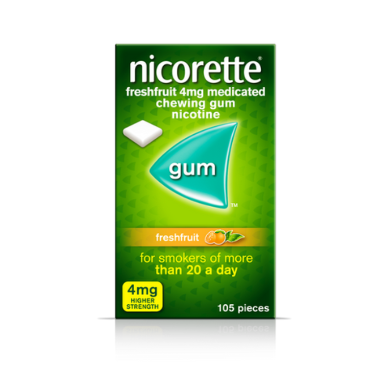 Nicorette Freshmint 4 Mg Medicated Chewing Gum