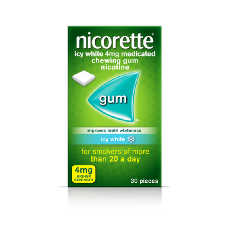 Nicorette Icy White 4mg Medicated Chewing Gum