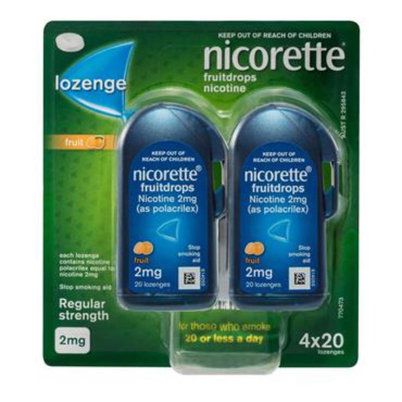 Nicorette Fruit 4 Mg Lozenges 80Pk