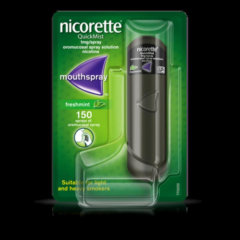 Nicorette Quickmist 1 Mg/spray Oromucosal Spray, Solution