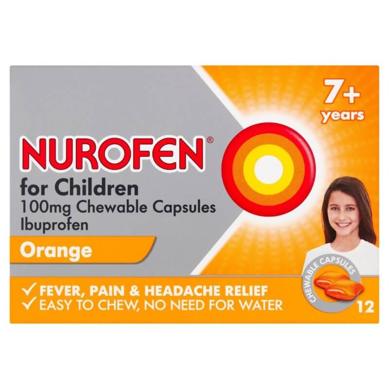 Nurofen For Children 100 Mg Chewable Capsules, Soft 12Pk