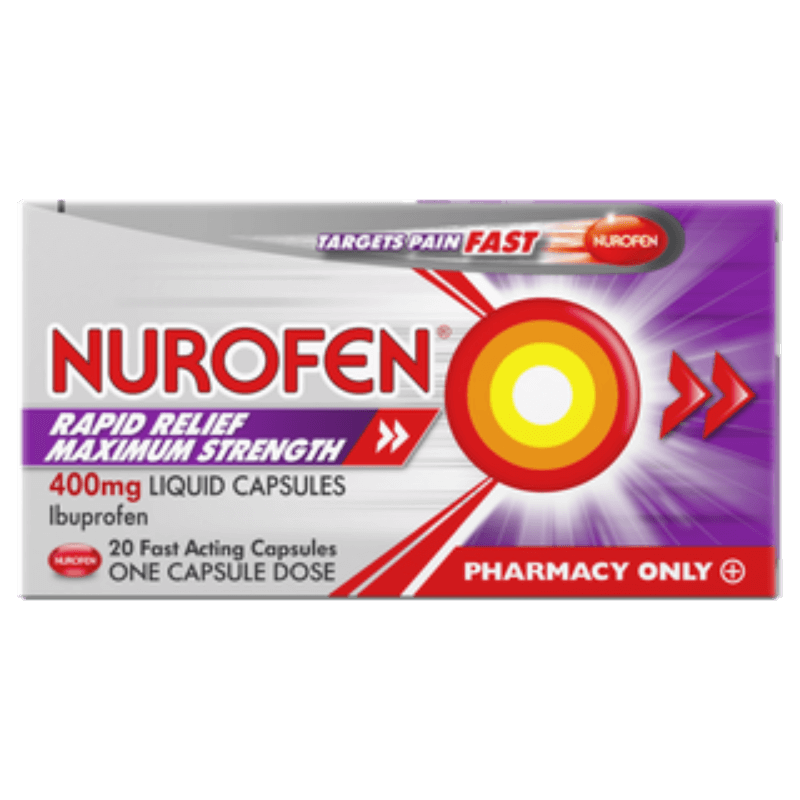 Nurofen Rapid Relief Maximum Strength 400mg Liquid Capsules 20Pk