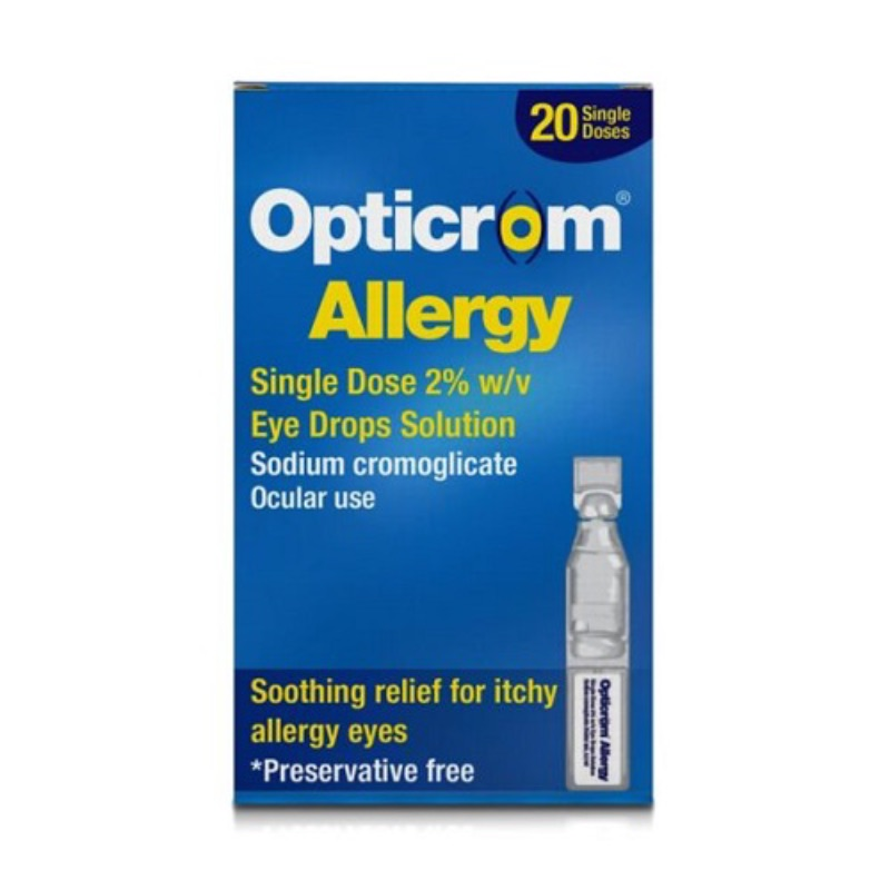 Opticrom Allergy Single Dose 2% W/v Eye Drops, Solution 20pack