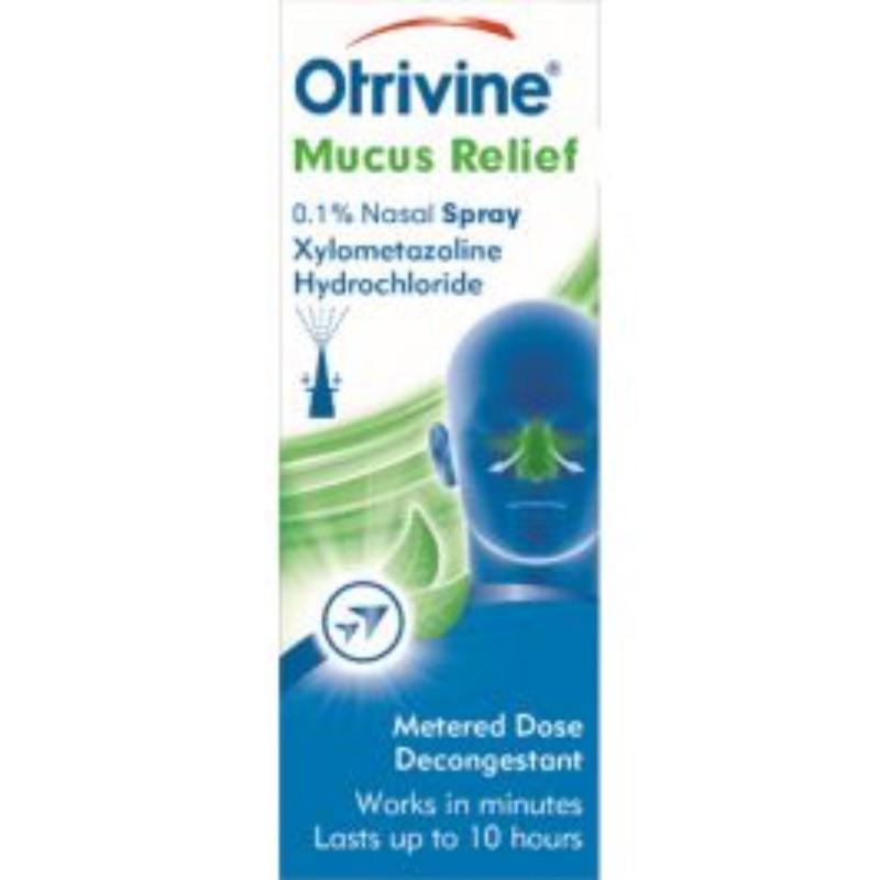 Otrivine Adult Mucus Relief Menthol 0.1%w/v Nasal Spray 1Pk