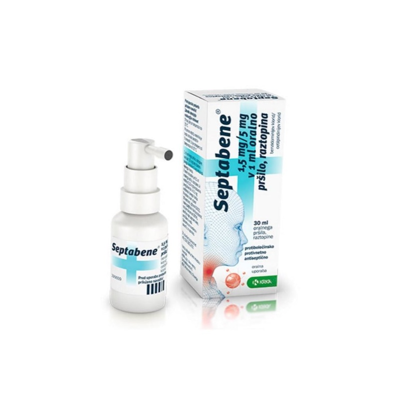 Septabene 1.5 Mg/ml + 5.0 Mg/ml Oromucosal Spray, Solution 30ml