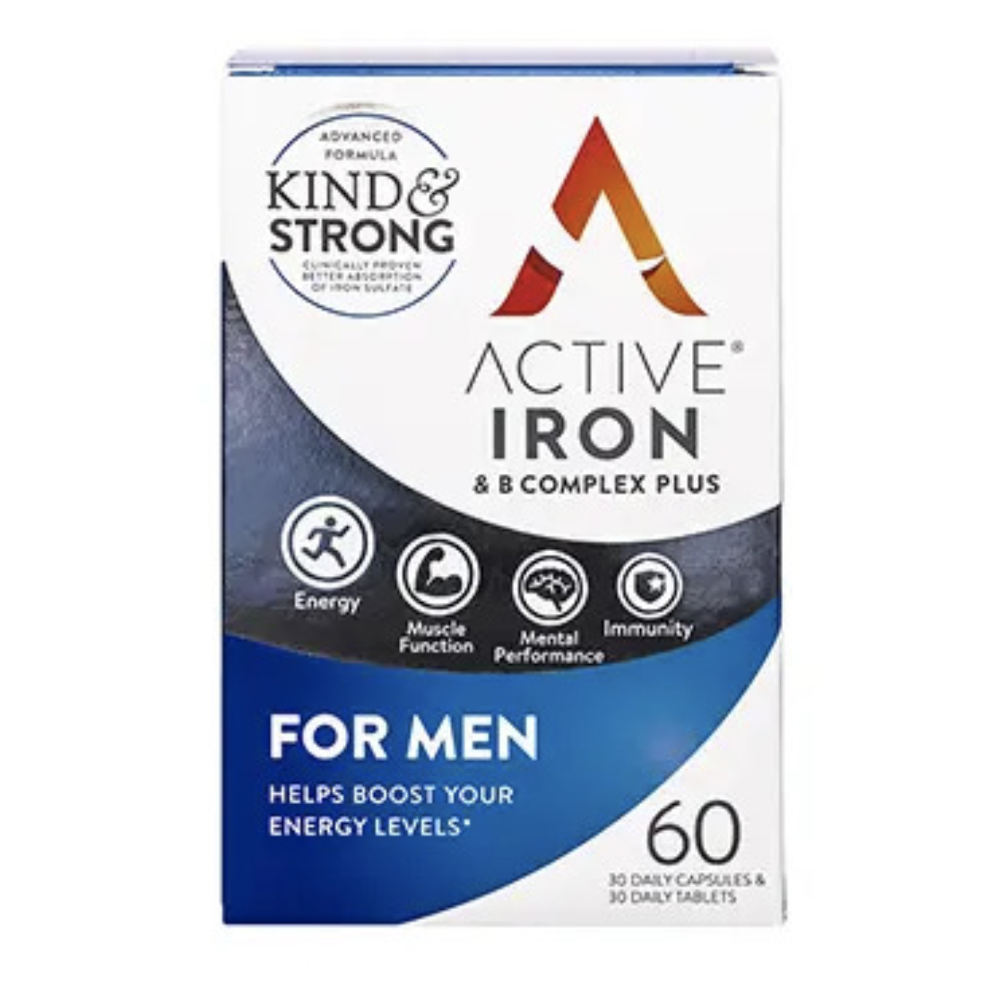 Active Iron & B Complex For Men 60 Capsules