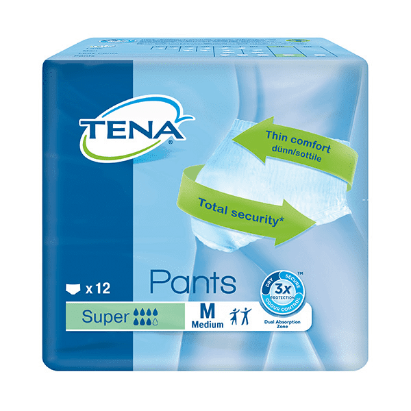 Tena Pants Super Medium 12 Pack