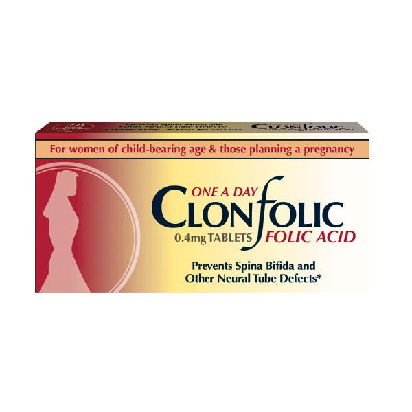 Clonfolic 0.4 Mg Tablets 28Pk